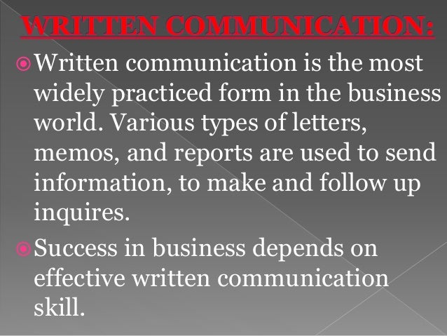 In business communication the efficiency, effectiveness etc can be achieved by observing the rules of good writing in busi...