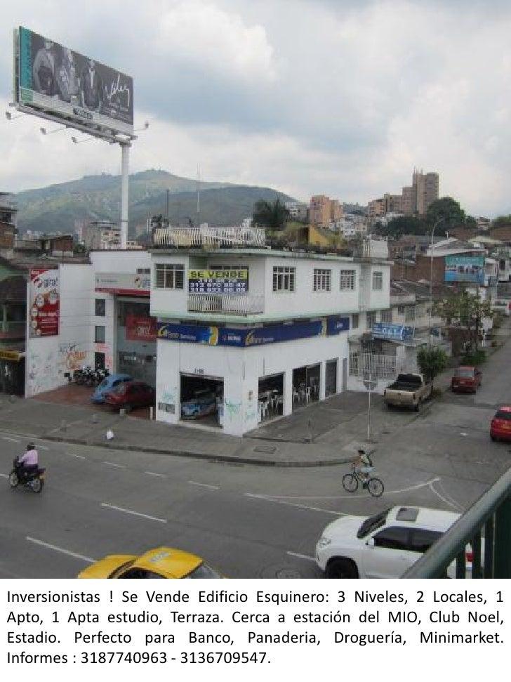 Inversionistas ! Se Vende Edificio Esquinero: 3 Niveles, 2 Locales, 1Apto, 1 Apta estudio, Terraza. Cerca a estación del M...