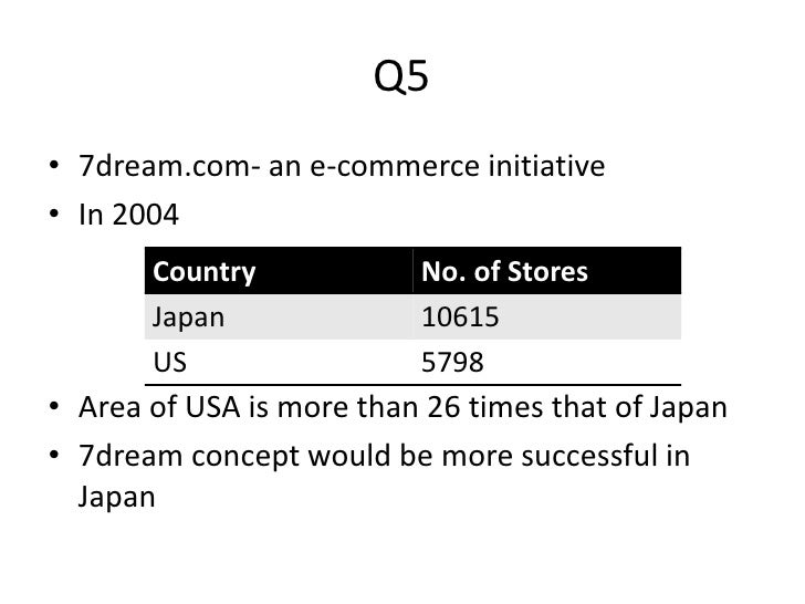 seven eleven japan co supply chain drivers [mba] 7-eleven japan's supply chain seven-eleven japan co harvard business school case, january 1, 2005 posted by wendic at 16:04 0 comments.