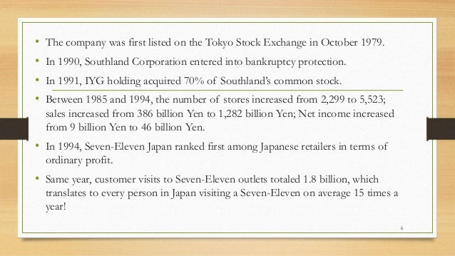 seven eleven case study essay Business essays: 7 eleven japan case study question 5: is the offering of more services in japan, including banking, provision of in-store terminals for use by customers and so on likely to cause problems for part-time workers in the franchises.