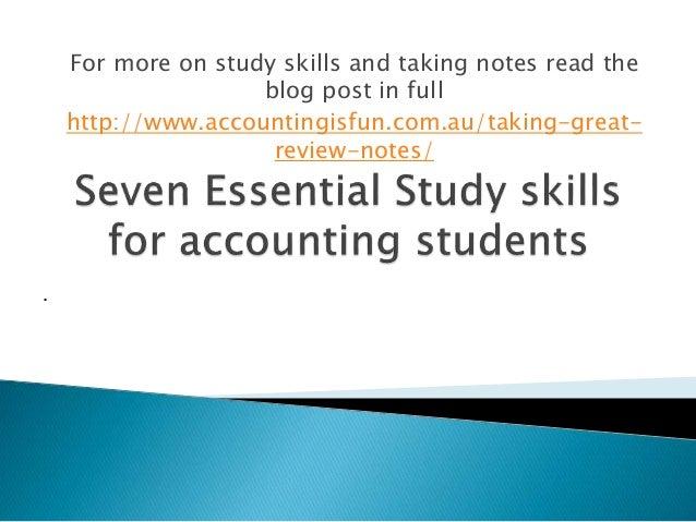 Study skills review