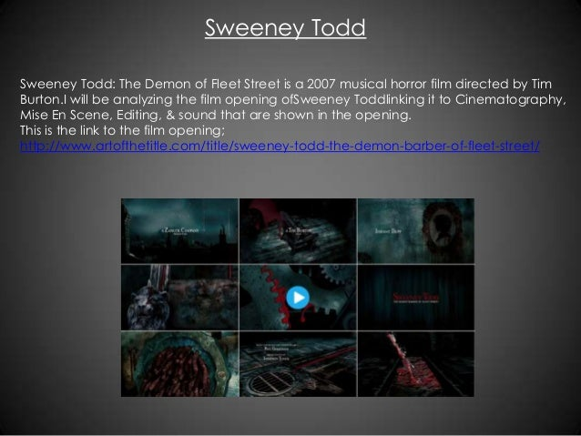 Sweeney Todd The Demon Of Fleet Street Is A 2007 Musical Horror Film