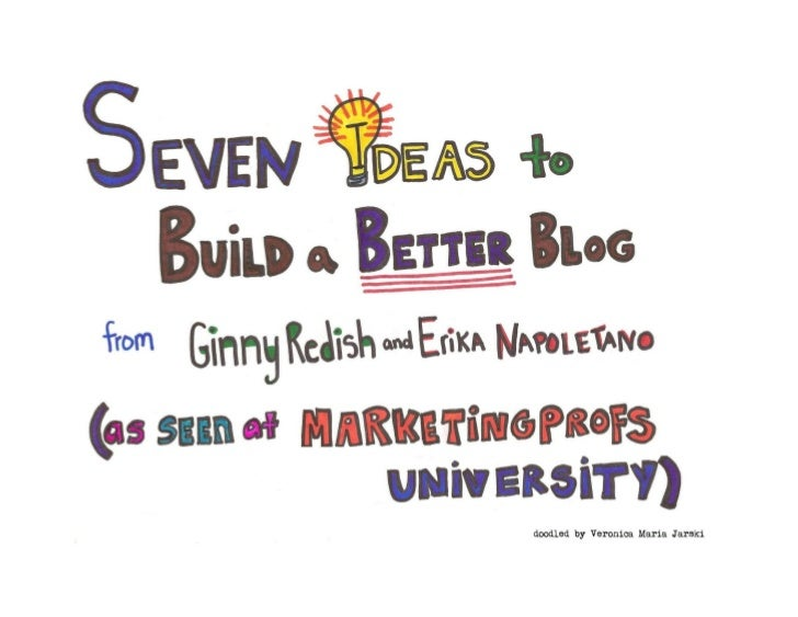Seven Ideas to Build a Better Blog [Infodoodle]