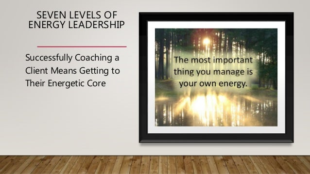 SEVEN LEVELS OF ENERGY LEADERSHIP Successfully Coaching a Client Means Getting to Their Energetic Core