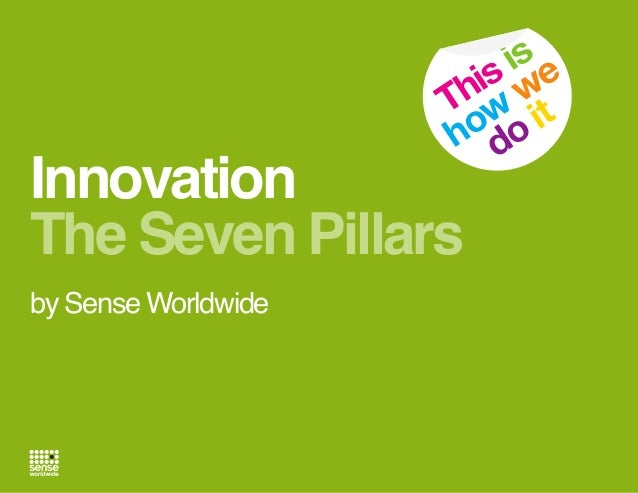 is e is w h T w it ho do  Innovation The Seven Pillars by Sense Worldwide