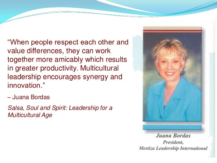 """""""When people respect each other and value differences, they can work together more amicably which results in greater produ..."""