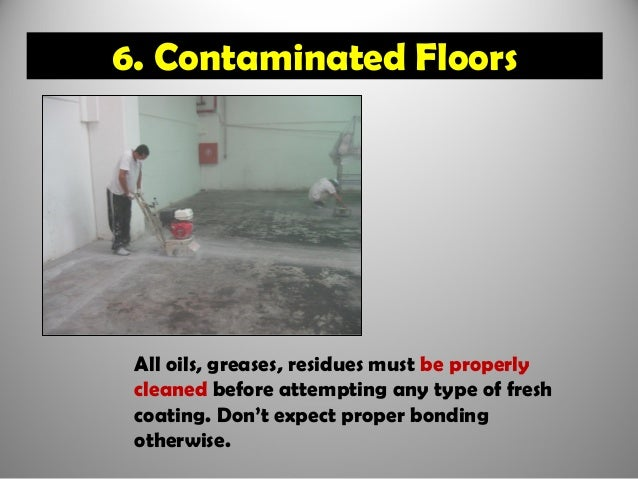 Seven Reasons Why Epoxy Floors Fail