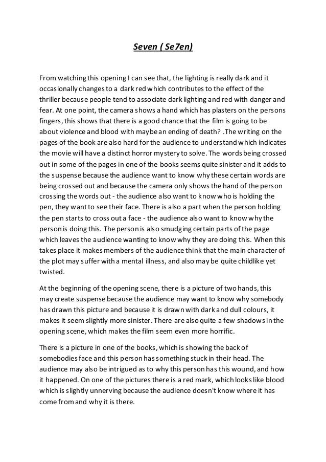 the opening scene 2 essay The dark knight opening scene analysis the dark knight is a fantasy movie that again, is grounded in reality it's a story about and evil set around the comic book hero batman.