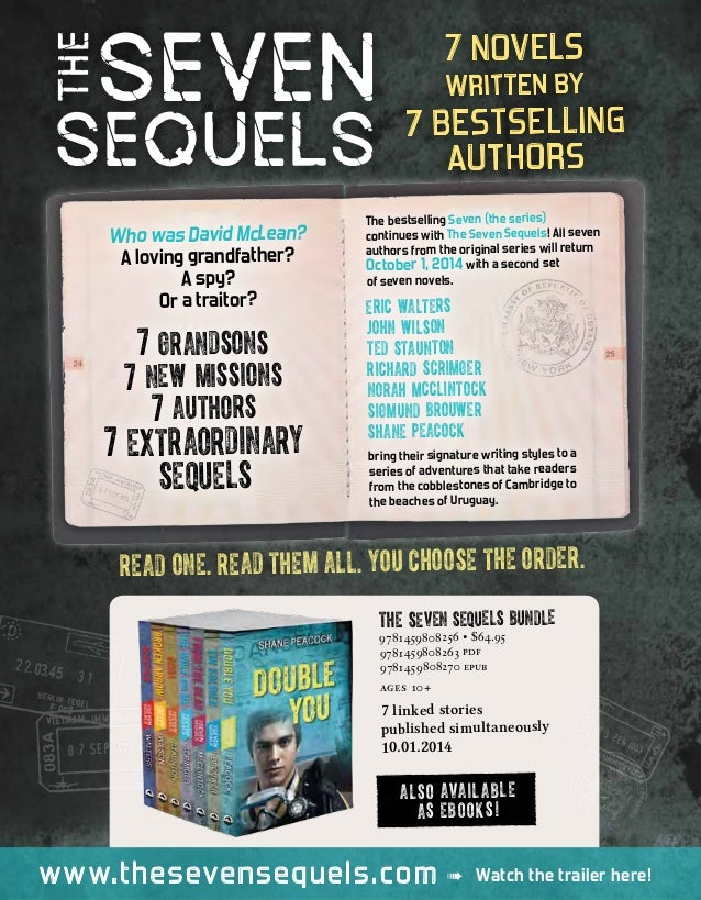 7 novels written by 7 bestselling authors READ ONE. READ THEM ALL. YOU CHOOSE THE ORDER. www.thesevensequels.com Watch the...