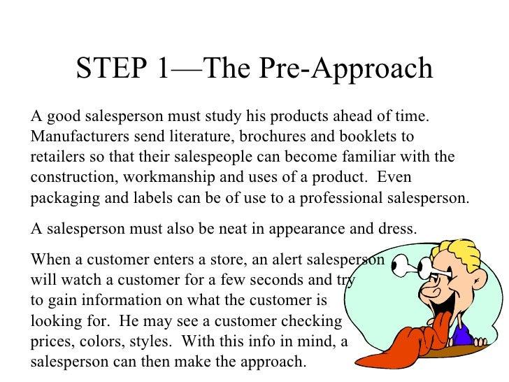 Seven steps  of a sale Slide 2