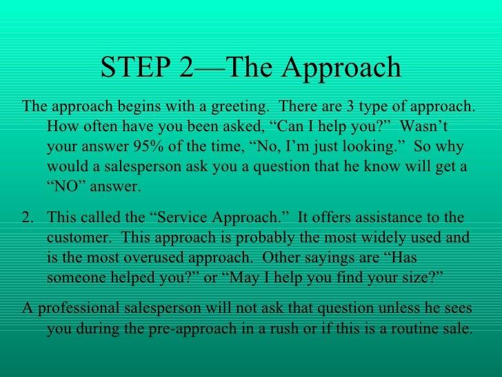 Seven steps  of a sale Slide 3