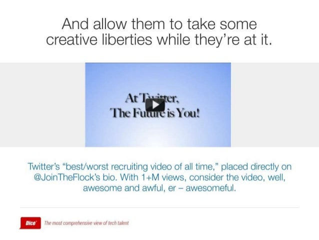 "And allow them to take some creative liberties while they're at it.      Twitter's ""best/ worst recruiting video of all ti..."