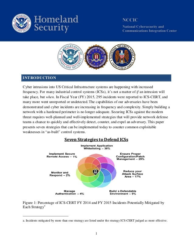 1 INTRODUCTION Cyber intrusions into US Critical Infrastructure systems are happening with increased frequency. For many i...
