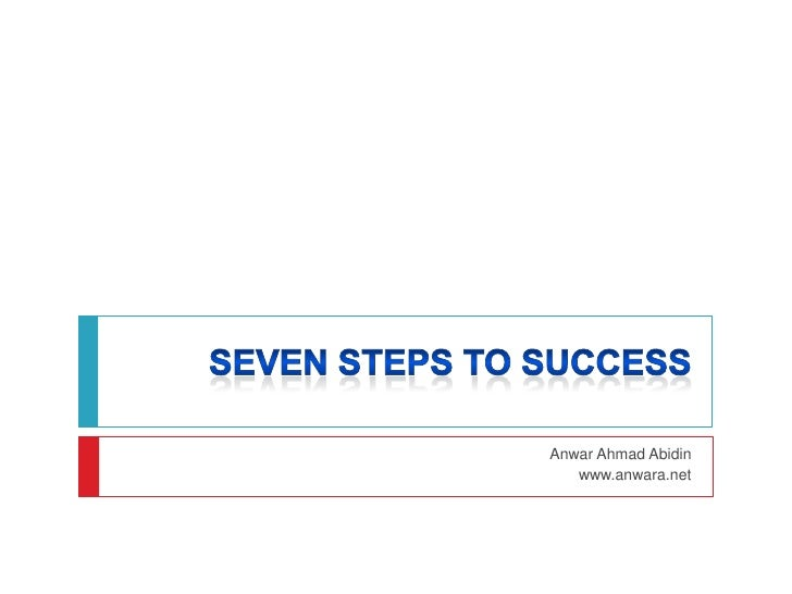 SEVEN STEPS TO SUCCESS<br />Anwar Ahmad Abidin<br />www.anwara.net<br />
