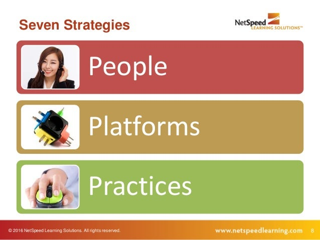 © 2016 NetSpeed Learning Solutions. All rights reserved. 8 Seven Strategies People Platforms Practices