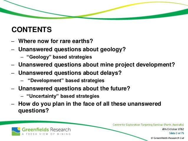 Seven Strategies for Rare Earths Hopefuls - Nov 2012 - Greenfields Research Slide 2