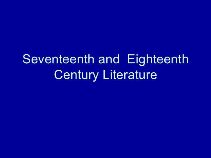 an analysis of the 18th century literary works A brief video introduction to influential elements of the 18th century on literature for an american literature 1 course taught at north shore community.