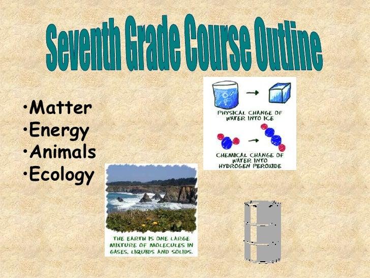 Seventh Grade Course Outline<br /><ul><li>Matter