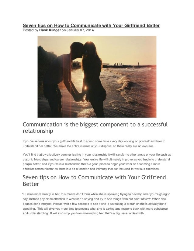 Seven Tips On How To Communicate With Your Girlfriend Better