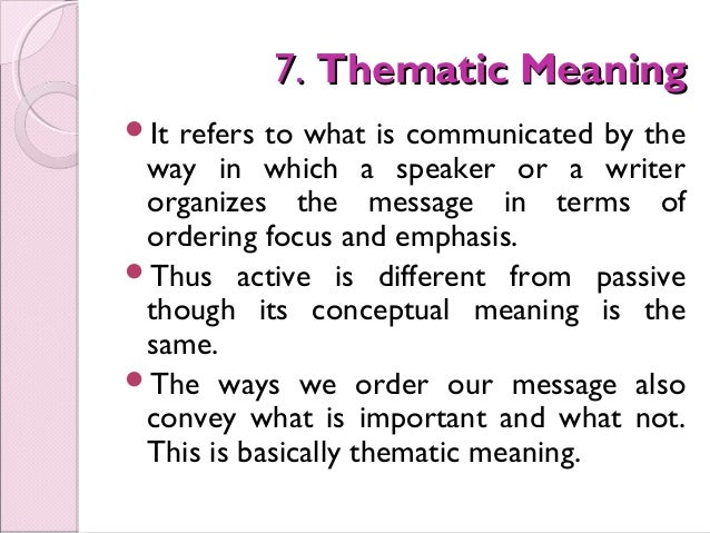 collocative meaning This term paper show some of the types of conceptual and associative meaning that been written about it such as contrastive, constituent structure, connotative meaning, stylistic meaning, affective meaning, reflected meaning, collocative meaning with the detailed information on each individually.