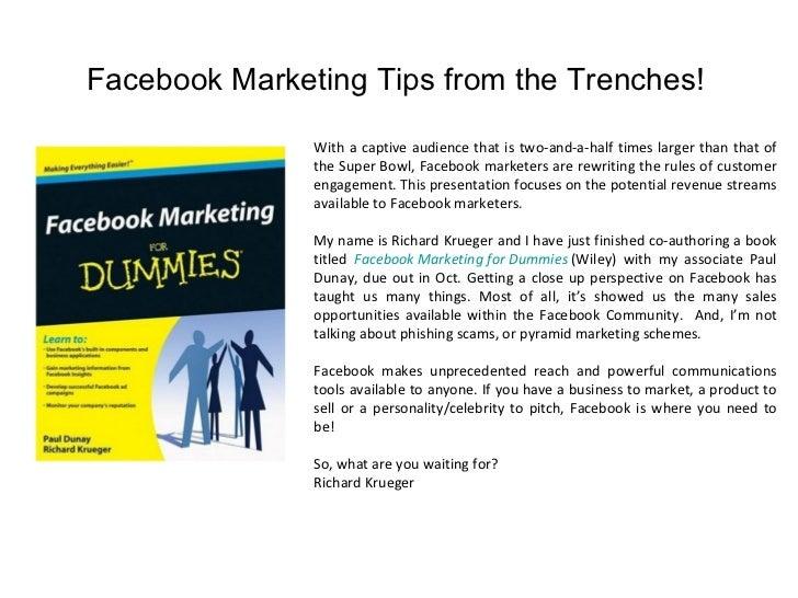 Seven Ways To Make Money On Facebook Slide 2