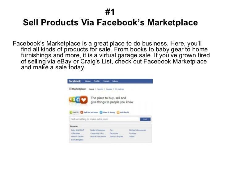 Seven Ways To Make Money On Facebook Slide 3