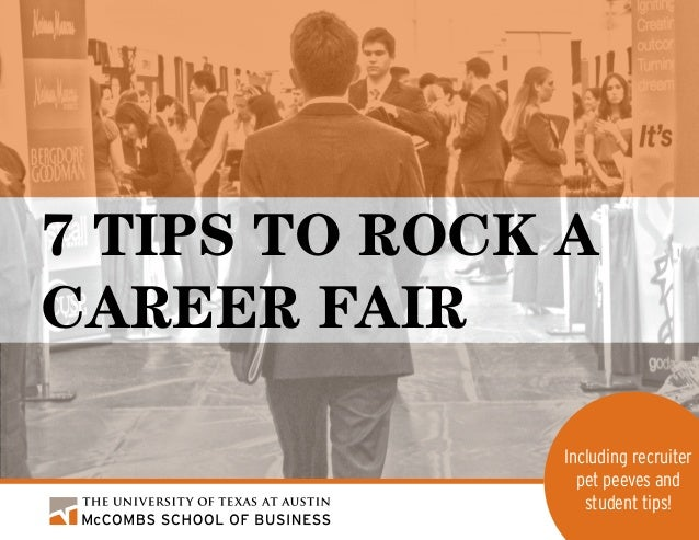 7 Tips to Rock A Career Fair Including recruiter pet peeves and student tips!