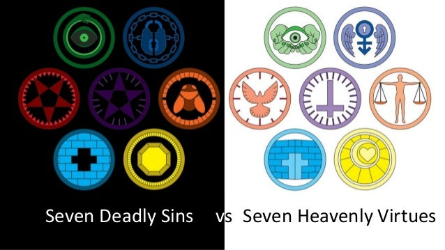 Seven Deadly Sins And Seven Heavenly Virtues