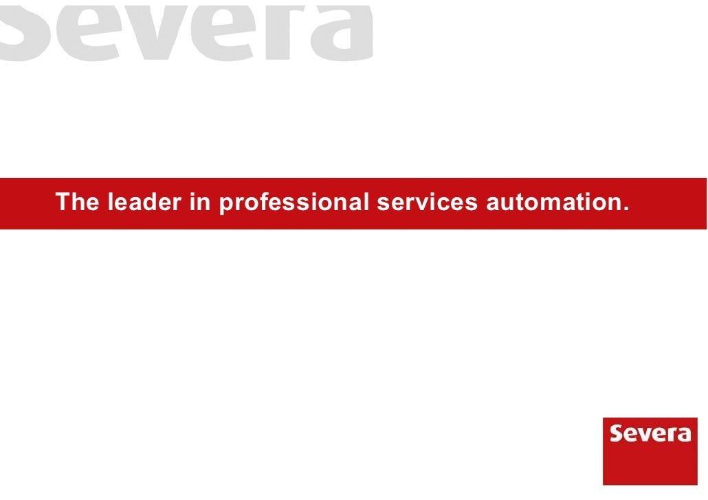 The leader in professional services automation.