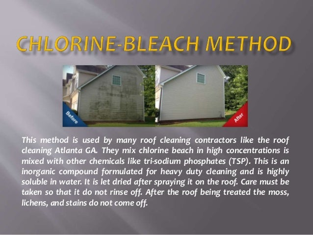 This Method Is Used By Many Roof Cleaning Contractors Like The Roof Cleaning  Atlanta GA.