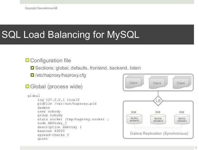 How To Set Up SQL Load Balancing with HAProxy - Slides