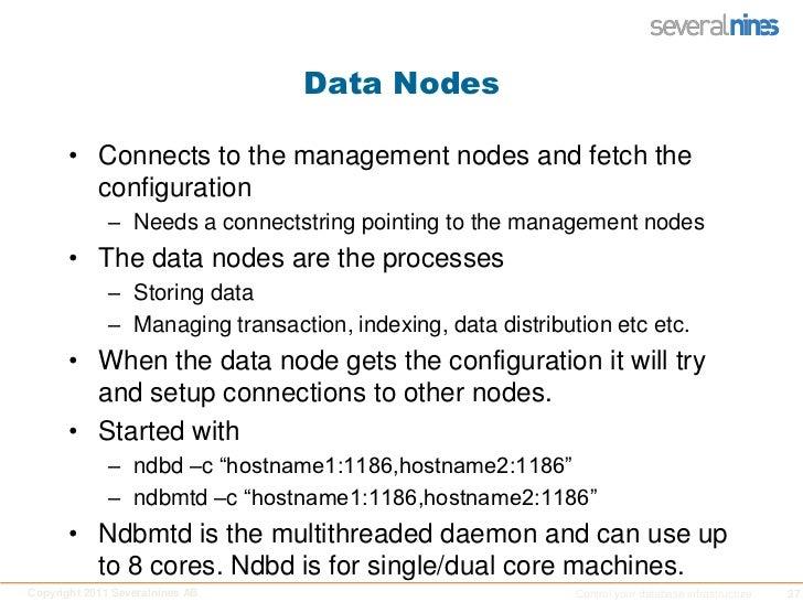 Different access methods (SQL, C++, Java,LDAP)  </li></ul>MySQL Cluster basics<br />