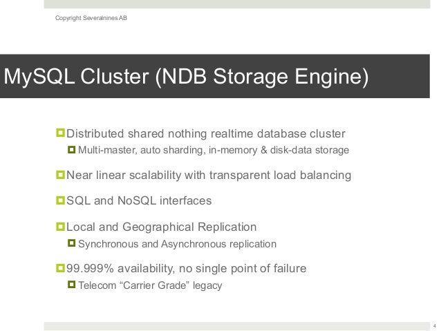 Galera Cluster for MySQL vs MySQL (NDB) Cluster: A High Level Compari…