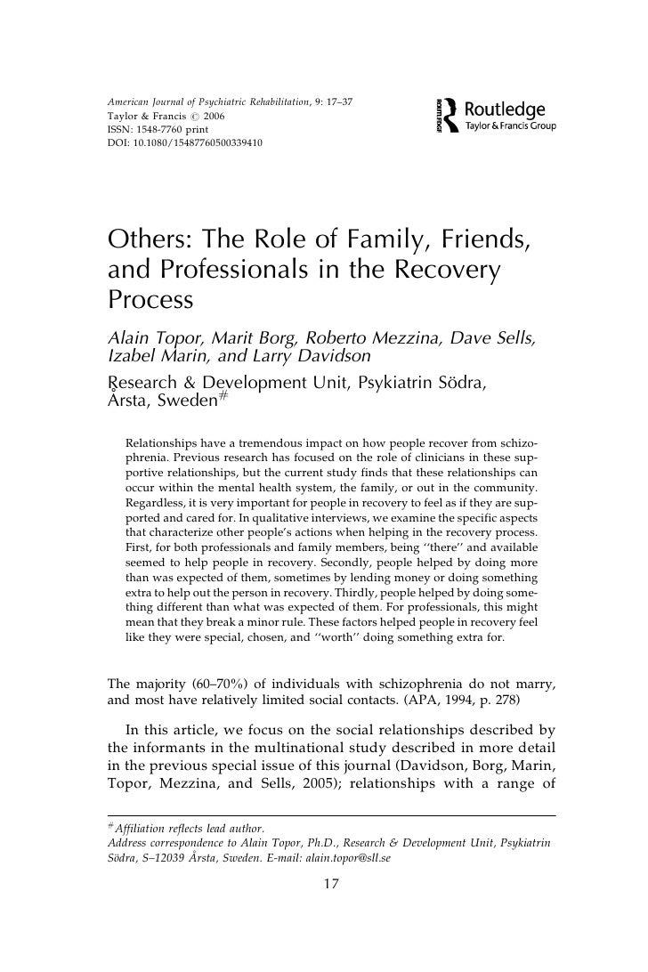 American Journal of Psychiatric Rehabilitation, 9: 17–37 Taylor & Francis # 2006 ISSN: 1548-7760 print DOI: 10.1080/154877...