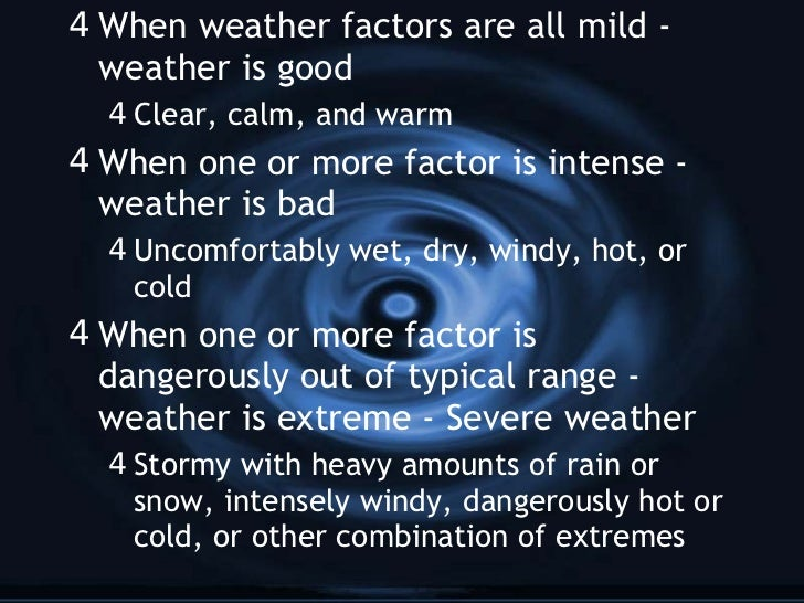 Essay #3 Extreme weather