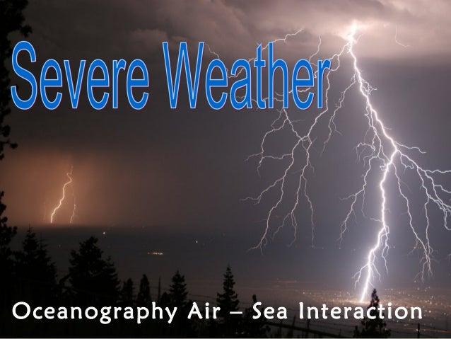 Oceanography Air – Sea Interaction