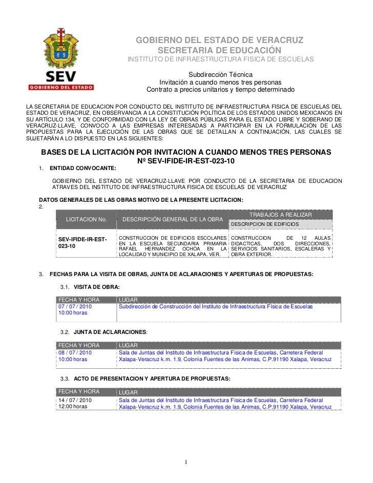 GOBIERNO DEL ESTADO DE VERACRUZ                                         SECRETARIA DE EDUCACIÓN                           ...