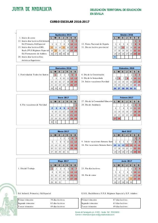 Calendario Sevilla.Sevilla Calendario Escolar
