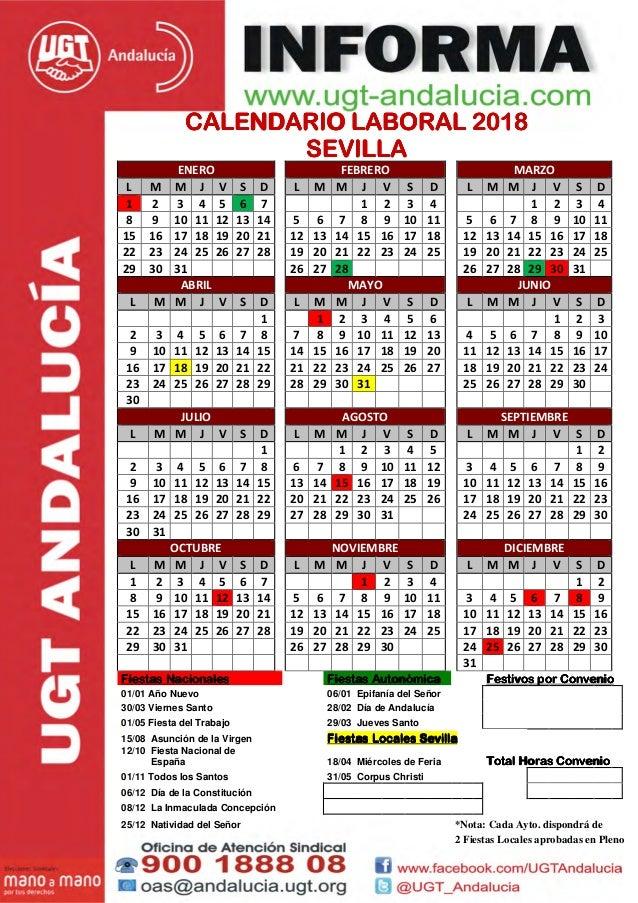 Calendario Sevilla.Sevilla 2018
