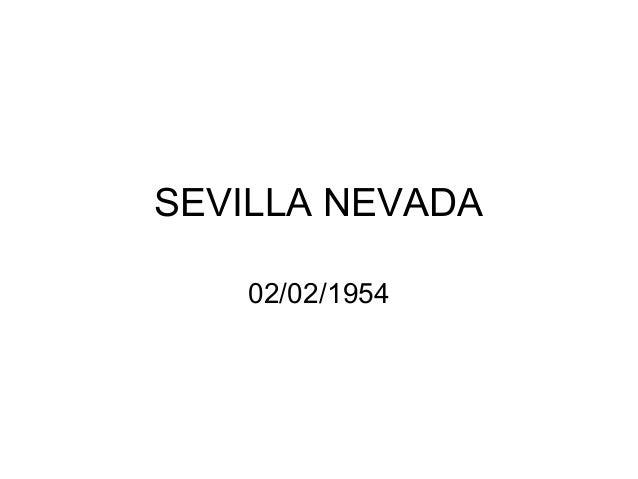 SEVILLA NEVADA 02/02/1954