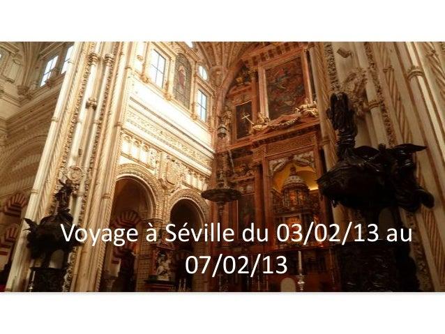 Voyage à Séville du 03/02/13 au           07/02/13