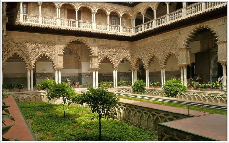 Inside Alcázar