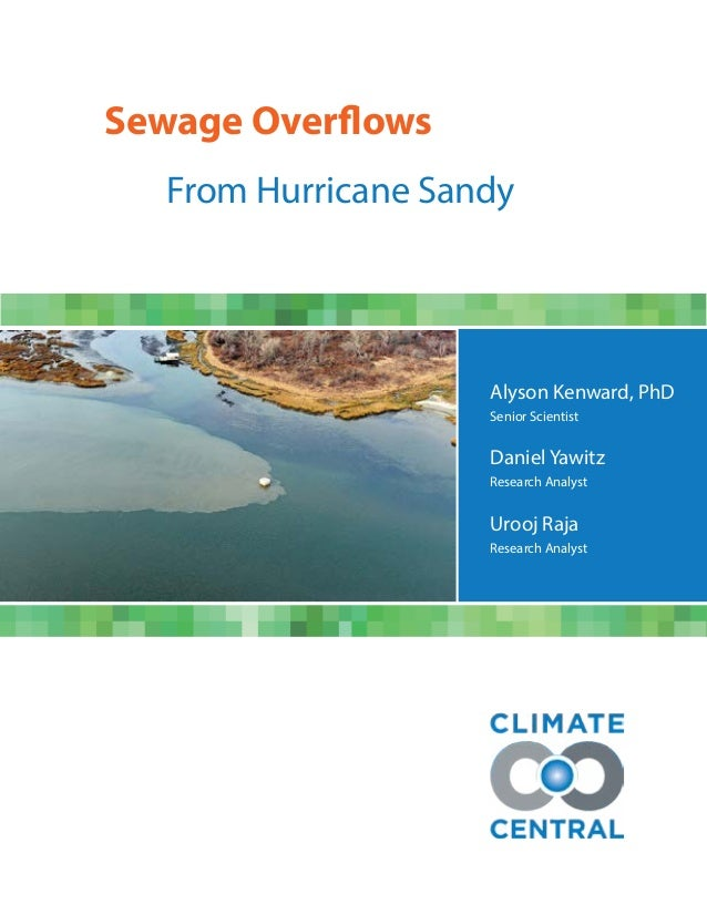 Alyson Kenward, PhDSenior ScientistDaniel YawitzResearch AnalystUrooj RajaResearch AnalystSewage Overflows			 From Hurrica...