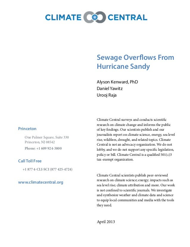 Report - Hurricane Sandy's Untold Filthy Legacy: Sewage Slide 2