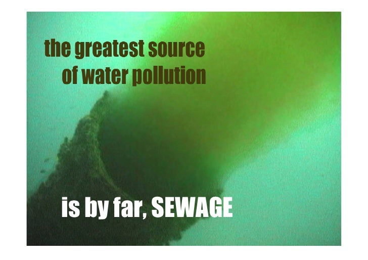 is by far, SEWAGE