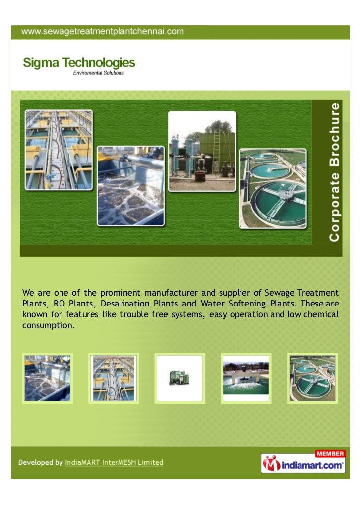We are one of the prominent manufacturer and supplier of Sewage TreatmentPlants, RO Plants, Desalination Plants and Water ...