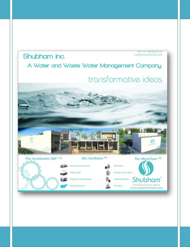 Shubham Hydrosys Pvt. Ltd  Sewage Treatment Plant | Water Treatment Plant | Industrial RO Plant  Shubham India are manufac...
