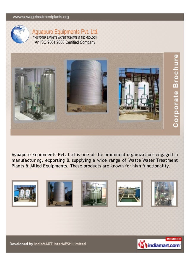 Aguapuro Equipments Pvt. Ltd is one of the prominent organizations engaged inmanufacturing, exporting & supplying a wide r...