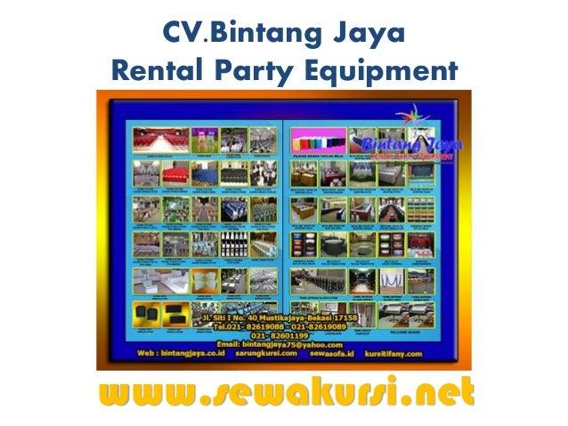 CV.Bintang Jaya Rental Party Equipment www.sewakursi.net Menyewakan : Kursi Futura Polos Kursi Futura Cover Strech Kursi F...