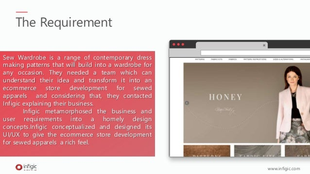 eCommerce Store Development for Sewed Apparels in UK Slide 2